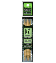 "Takumi Bamboo Double Point Knitting Needles 5"" 5/Pkg-Size 6/4mm, , hi-res"
