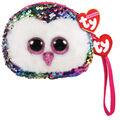 Ty Inc. Fashion Reversible Sequin Owen Owl Wristlet
