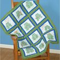Jack Dempsey Themed Stamped White Quilt Blocks-Frogs