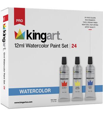 KINGART 12ml Paint Set 24/Pkg-Watercolor