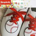 Wrights 2 pk 2.5\u0027\u0027x2.5\u0027\u0027 Baseball Shoe Embellishments-White