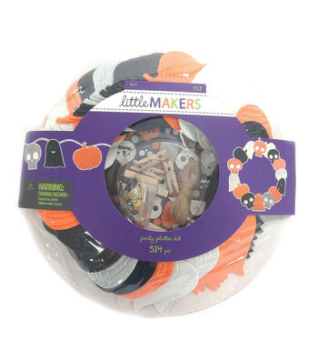 Little Maker's Mixed Media Party Platter Kit-Halloween