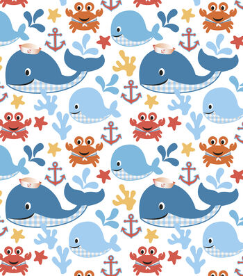 Nursery Cotton Fabric -Sea Buddies