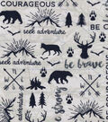 Nursery Flannel Fabric -Map