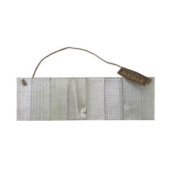 Wood 15x4.5'' Hanging Sign-White