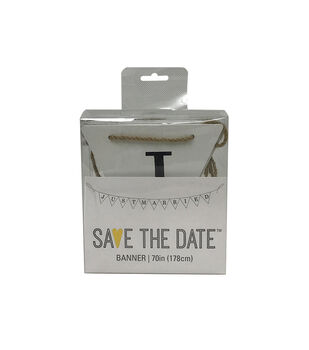 Save the Date 70'' Banner-Just Married