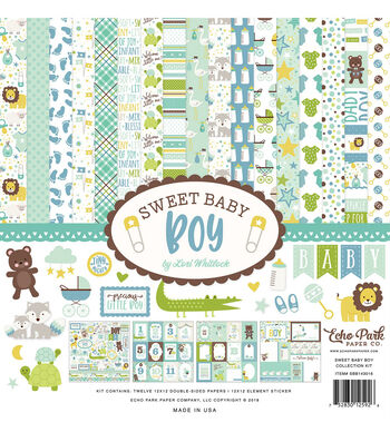 Echo Park Paper Company Sweet Baby Boy Collection 12''x12'' Kit