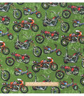 Snuggle Flannel Fabric 42\u0022-Urban Motorbike