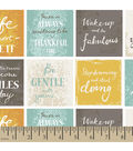 Snuggle Flannel Fabric -Inspirational Sentiments