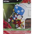 Bucilia Stocking Felt Applique Kit-Holiday Drive