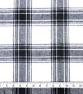 Plaiditudes Brushed Cotton Apparel Fabric 44\u0027\u0027-White & Black Plaid