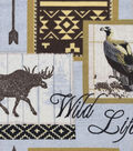 Snuggle Flannel Fabric -Wild Life Patch