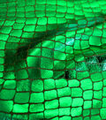 The Witching Hour Halloween Fabric -Crocodile Foil Green