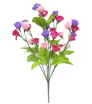 Fresh Picked Spring 17'' Mini Rose Bush-Purple & Pink