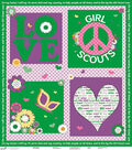 Girl Scout Felt Fabric 44\u0022-Love Green Panel