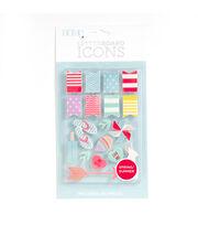 DCWV Home 18 Pack Letter Board Icons-Spring & Summer, , hi-res