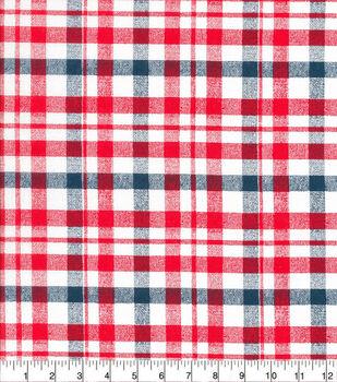 Patriotic Cotton Fabric-Sketched Patriotic Check