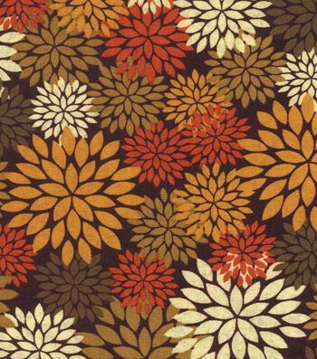 Autumn Inspirations Fabric- Autumn Mums Graphic