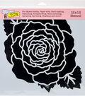 Crafter\u0027s Workshop Hot off the Press Template 12\u0027\u0027x12\u0027\u0027-Large Rose