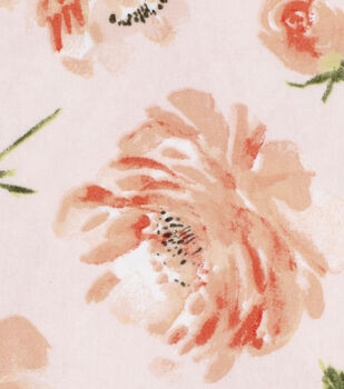 Nursery Flannel Fabric-Coral Floral