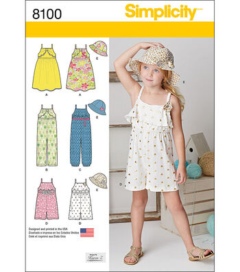 Simplicity Patterns US8100A Children-3-4-5-6-7-8