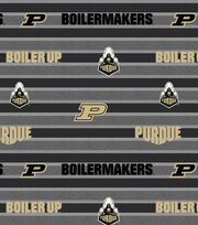 "Purdue University Boilermakers Fleece Fabric 58""-Polo Stripe, , hi-res"