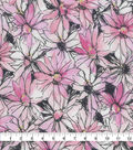 Keepsake Calico Cotton Fabric-Watercolor Floral Pink