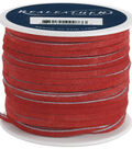 Silver Creek Leather Co. Suede Lace 1/8\u0022x25 Yards-Red