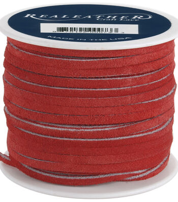 "Silver Creek Leather Co. Suede Lace 1/8""x25 Yards-Red"