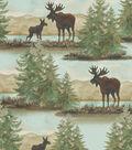 Snuggle Flannel Fabric -Watercolor Wilderness Scene
