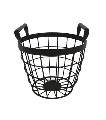 Blooming Autumn Small Metal Basket