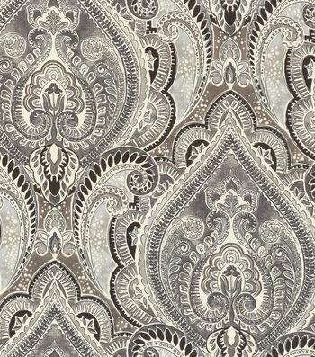 """Kelly Ripa Upholstery Fabric 54""""-Pretty Witty Ebony"""