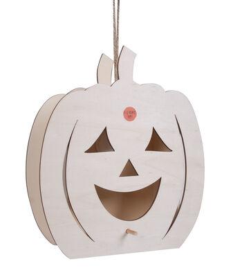 Maker's Halloween Light Up Birdhouse-Smiling Jack o Lantern