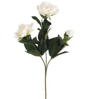 """Bloom Room 27"""" Gardenia Spray with 2 Flw.&1 Bud-White"""