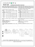 Mccall Pattern V8739 Aa (6-8-10-Vogue Pattern