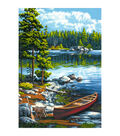 Paint Works Paint By Number Kit 14\u0022X20\u0022-Canoe By The Lake