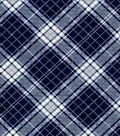Quilter\u0027s Flannel Fabric-Navy Riley Plaid
