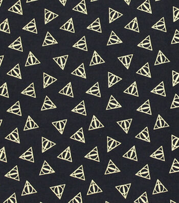 "Harry Potter Cotton Fabric 44""-Deathly Hallows"