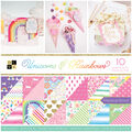 Park Lane Unicorns & Rainbows 36 pk 12\u0027\u0027x12\u0027\u0027 Cardstock Stack