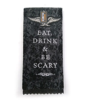 Maker's Halloween Decor 16''x26'' Towel-Eat, Drink & Be Scary
