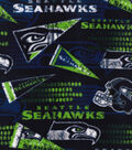 Seattle Seahawks Fleece Fabric 58\u0027\u0027-Retro