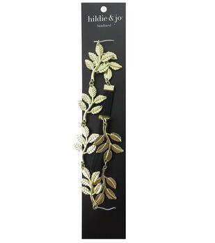 hildie & jo Gold Leaves Soft Headband