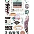 Prima Marketing Zella Teal 29 pk Puffy Stickers