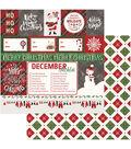 Mad 4 Plaid Christmas Double-Sided Cardstock 12\u0022X12\u0022-Ho Ho Ho