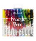 Ecoline Watercolour Brush Pen Set 10/Pkg