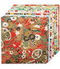 Fold \u0027Ems Origami Paper 5.875\u0022 10/Pkg- Yuzen Red