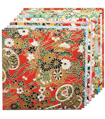 "Fold 'Ems Origami Paper 5.875"" 10/Pkg- Yuzen Red"