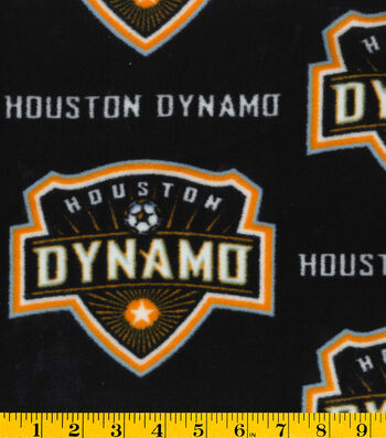 "Houston Dynamo Fleece Fabric 58""-Logo"