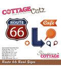 CottageCutz Die-Route 66 Road Signs .3\u0022 To 1.9\u0022