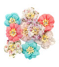 Prima Marketing Misty Rose Mulberry Paper Flowers 9/Pkg-Walden